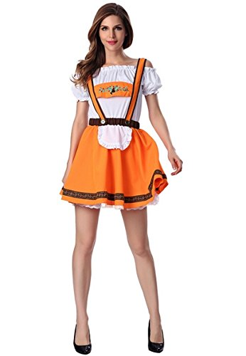 0034a1c325b HarrowandSmith Women s Dirndl Ladies Oktoberfest Costume Lederhosen  Bavarian Beer Party German Traditional Outfit Carnival Fancy Dress