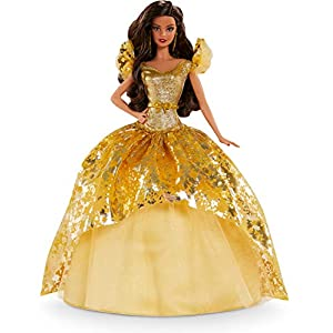 Best Epic Trends 41-WXkyIoYL._SS300_ Barbie Signature 2020 Holiday Barbie Doll (12-inch Brunette Long Hair) in Golden Gown, with Doll Stand and Certificate…