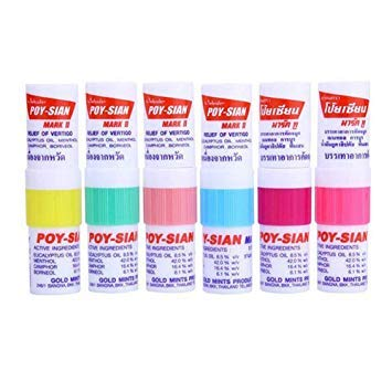 Poysian Menthol Salt Nasal Inhaler (Pack of 6)