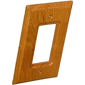 amertac 4025r traditional light oak wood wall plate