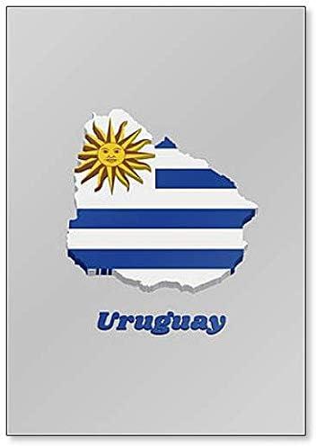 Uruguay Map Shape and Flag Design Magnet