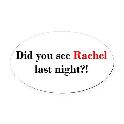 CafePress - Rachel Fan Oval Car Magnet - Oval Car Magnet, Euro Oval Magnetic Bumper Sticker