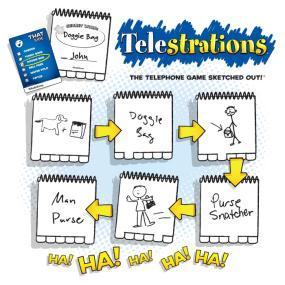 "Telestrations The ""Telephone Game"" turned into the #1 LOL Party Game!"