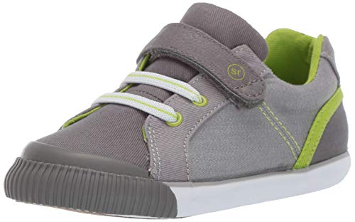 - Stride Rite Parker Boy's/Girl's Casual Sneaker, Grey, 9 M US Toddler