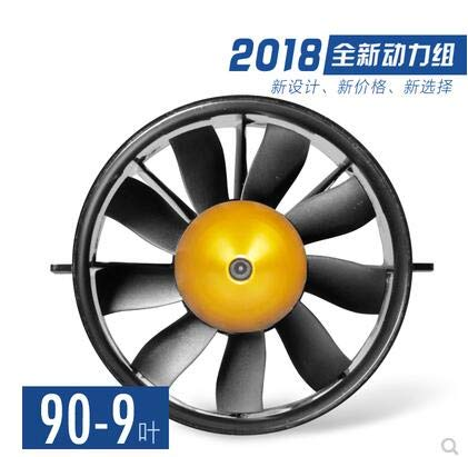 E7228 1750KV Laliva 90MM 9 Blades or 12 Blades Metal Duct Fan Outrunner Motor Version 6S Use for F4C F16 90 T45 90 F15 90mm FreeShipping  (color  E7229 1650KV)
