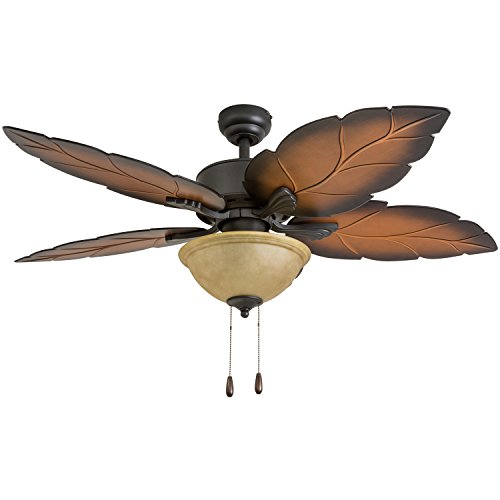 Prominence Home 50689-01 Pacific Sail Tropical Ceiling Fan (3 Speed Remote), 52