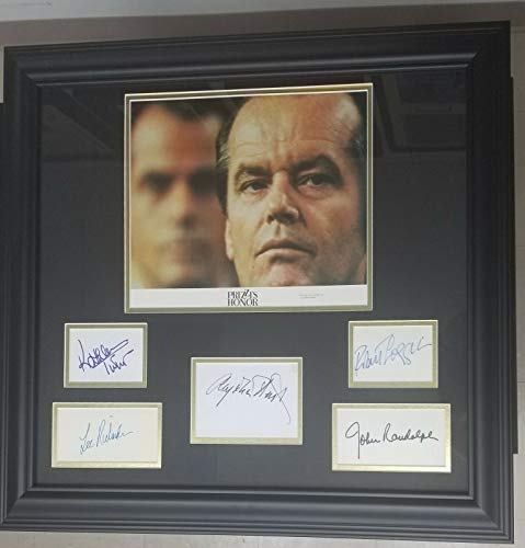 (Comedy Drama Prizzi's Honor Cast Hand Signed Cut Display Autograph World COA)