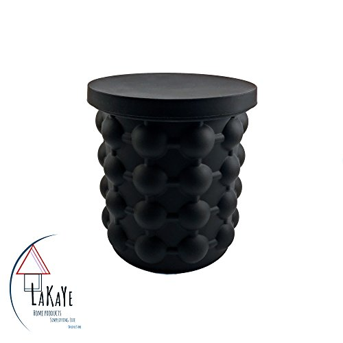 Ice cube maker Lakaye Home Products: ice cube bucket with lids. Keep your cubes fresh and odor free with an airtight lid. BPA free, compact, and portable.