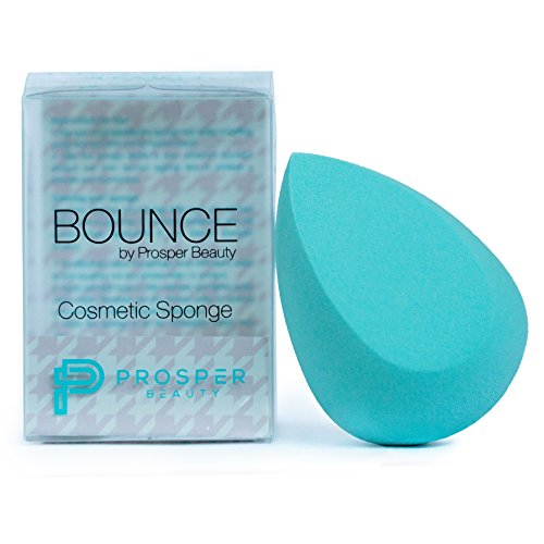 Beauty Sponge Makeup Blender Cosmetic [BOUNCE by Prosper Beauty] Real Applicator Sponges and Blenders Tool Techniques for Foundation Concealer Powder Conturing Complexion