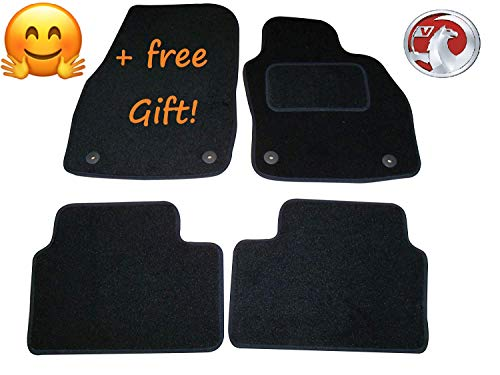 VAUXHALL ASTRA 2004-2009 HD RUBBER /& BLACK TRIM TAILORED CAR MATS