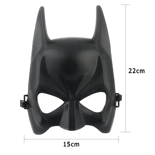 Funnytoday365 Halloween Batman Mask Adult Black Masquerade Party Carnival Dressing Upper Half Face Mask For Man Cool Face Costume (Batman Masks)