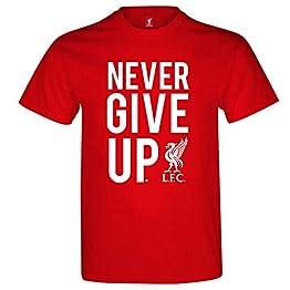 Liverpool FC T-Shirt pour Homme Inscription Never Give Up
