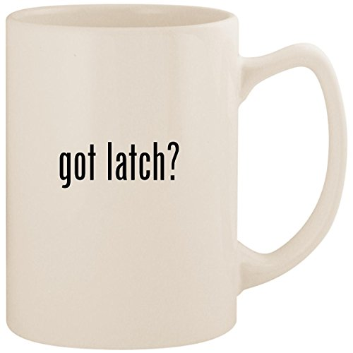 got latch? - White 14oz Ceramic Statesman Coffee Mug Cup