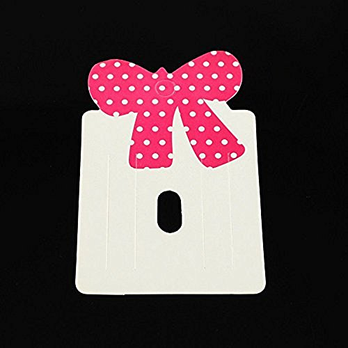 100Pieces Paper Carboard Hair Clip Display Cards Bowknot Camellia for Jewelry Making Display/Packaging Supplies 79x50mm