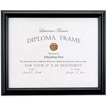 Amazon Com Lawrence Frames 11 By 14 Inch Black Diploma