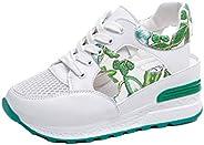 JOYBI Women Platform Wedge Sneaker Sandals Lace Up Mesh Hollow Comfort Summer Slingback Casual Sport Shoes