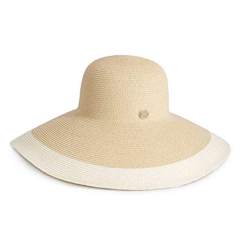 Viaje Elegante Solar Tamaño Grande Protector Sol Playa Sombrero Femenino 3 Hhgold Cara 1 color De Verano Paja Ocio wgRUfq