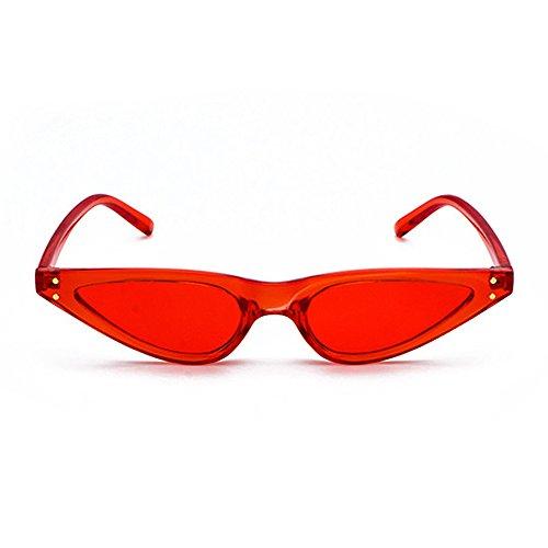 Retro Narrow Triangle Frame Small Eye 400UV Shades Skinny Women Red Cat Sunglasses Femal Sunglasses q6C4E