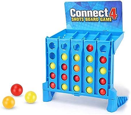 Xuji Connect 4 Shots Juego de Mesa Toy, Blue Bouncing Linking Shots Finger Baloncesto Juego de Disparos Bounce Link Ball Juego 4-to-Link Shots Juguetes para niños: Amazon.es: Hogar