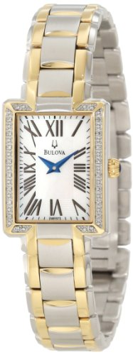 Bulova Women's 98R157 Two tone bracelet - Tone Bracelet Watch Two Mop