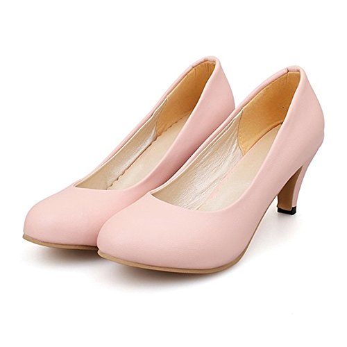 Round Shoes Size Plain Work Low Middle cut Plus pink Thin Heel qtwPwI6B