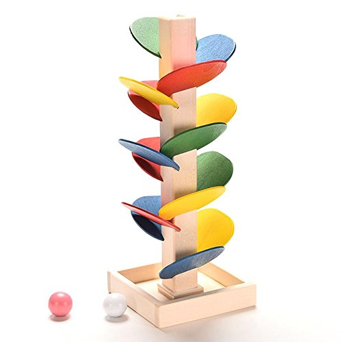 Chinatera Wooden Tree Marble Ball Run Track Game Toy Kids Preschool Educational Toys