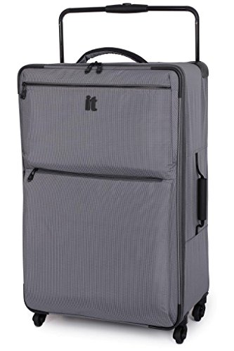 IT Luggage World's Lightest 82.5cm Four Wheel Spinner Suitcase Charcoal...