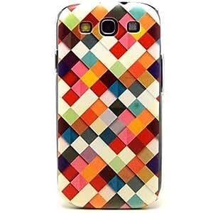 GX patrón romboidal colorido cajas de plástico duro para la galaxia i9300 de Samsung S3