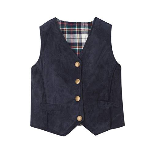 (Fore!! Axel & Hudson Boy Vest Suede Reversible Vest (4))