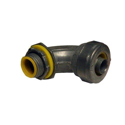 Morris 15300aislado Garganta Liquid Tight conector, zinc Die Cast, 90grados, 3–1/2 tamaño de la rosca