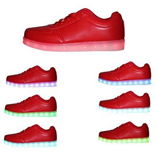 USB Aufladen Farben Handtuch LED JUNGLEST® kleines Mädchen Herren Unisex 3 Farbwechsel Present 7 Turnschuhe Damen Rot Jungen Blitzen 1wO6BWqW