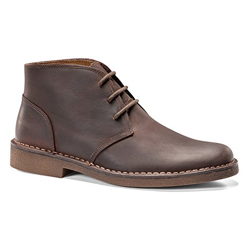 Dockers Men's Tussock Chukka Boot, Red/Brown, 9.5 W US