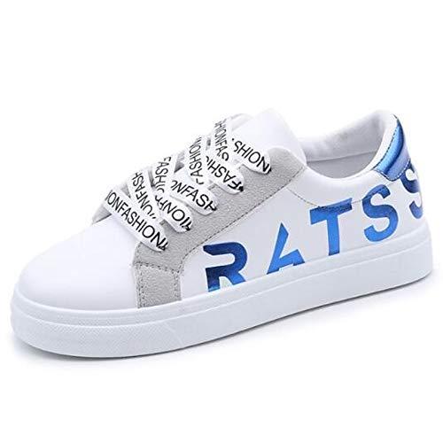 Verano Black Dedo del Poliuretano del Rojo Flat Zapatos Azul Sneakers Negro ZHZNVX Cerrado de Primavera Comfort Mujer pie PU Heel OxYwHFqwC