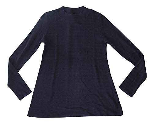Ann Taylor Factory Women's Chevron Mock Neck Sweater (Small) Navy Blue 485108 from Ann Taylor Factory