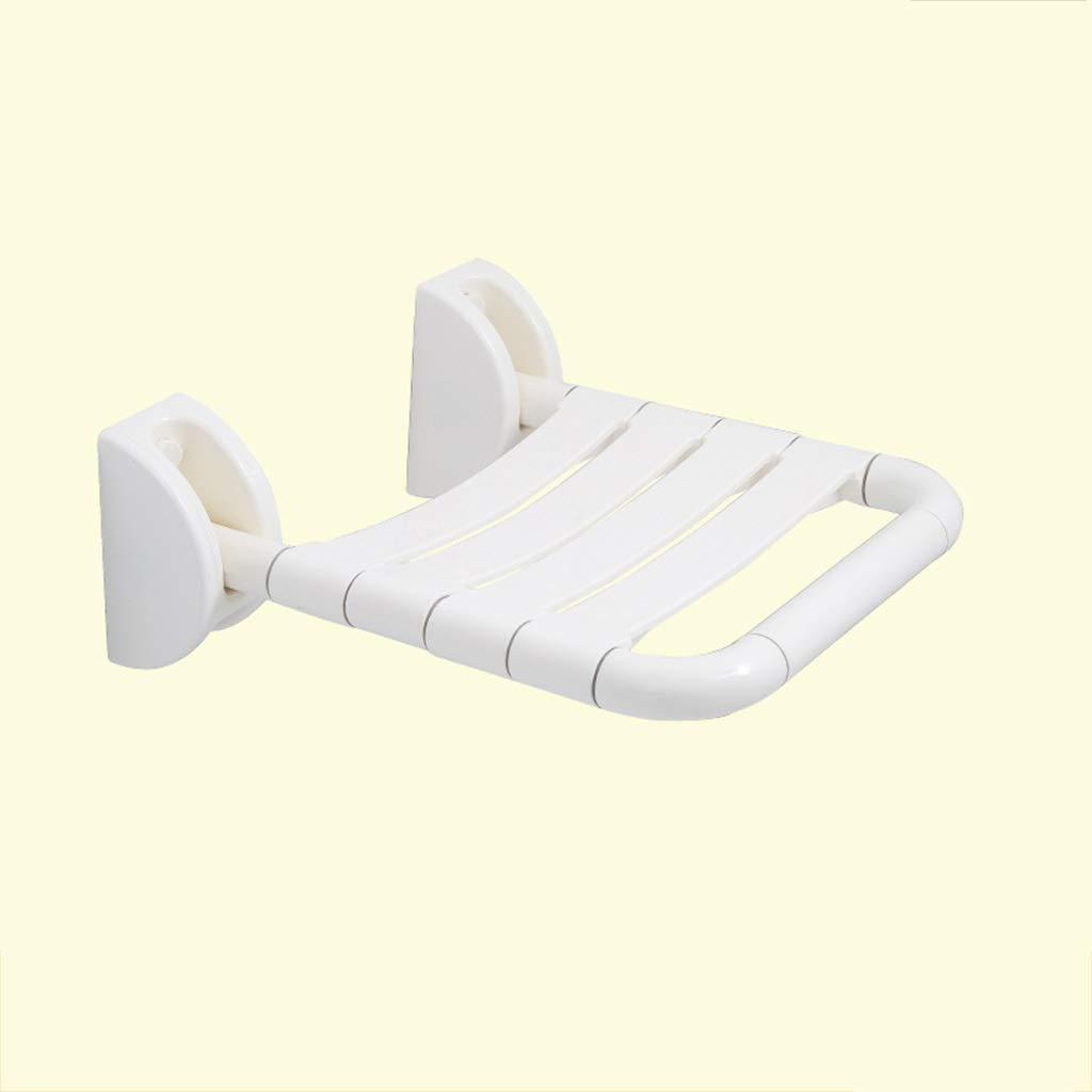 promocionales de incentivo blanco Asiento montado en la Parojo Asiento Asiento Asiento de Ducha Plegable Asiento de Parojo Silla del Pasillo Taburete de Ducha de Parojo Resbalón FKYGDQ (Color   blanco)  a la venta