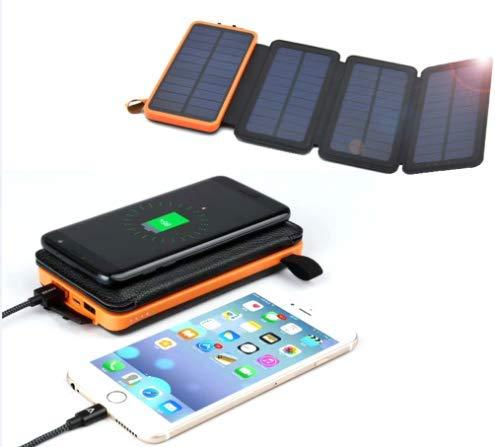 M.A.D. CHIEF Cargador Solar portátil de 25000 mAh, batería ...