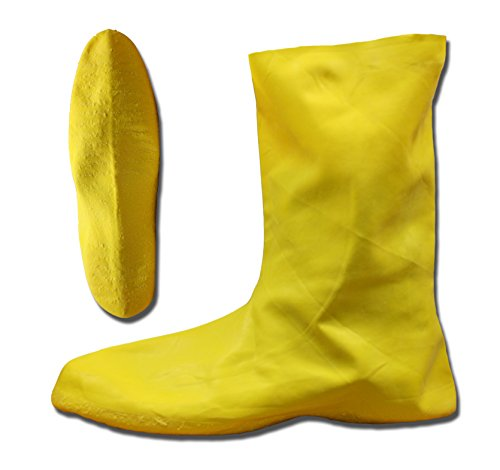 Cordova Safety Products LBC10XXXL  Yellow Natural Rubber Over-Shoe Style Hazmat Boots, 3X-Large ()