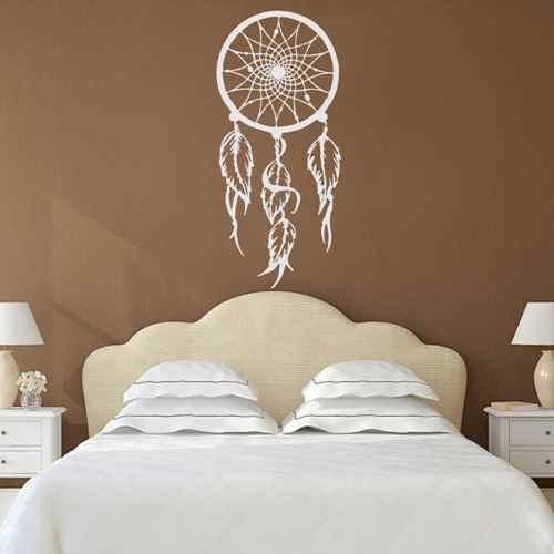 Dream Catcher Bohemian Wall Decal Dorm Bedroom Home Decor Boho Hippie Style Vinyl Sticker(Black,xs)