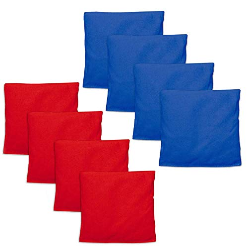 Weatherproof Duck Cloth Cornhole Bags - Set of 8 Bean Bags for Corn Hole Game - Regulation Size & Weight - Made with Corn-Shaped Synthetic Corn 8 Replacement Bean Bags