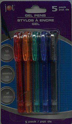 Mini Metallic Gel Pens, Pack of 5 Colors
