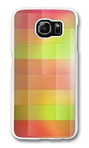 Color stripes Custom Samsung Galaxy S6/Samsung S6 Case Cover Polycarbonate Transparent Kimberly Kurzendoerfer