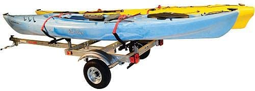 Malone XtraLight Trailer Package with 2 V-Kayak Racks