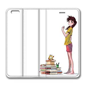 Enjoy happy life Iphone 6 leather Case,Iphone 6 Cases ,Barefoot girl Custom Iphone 6(4.7)High-grade leather Cases