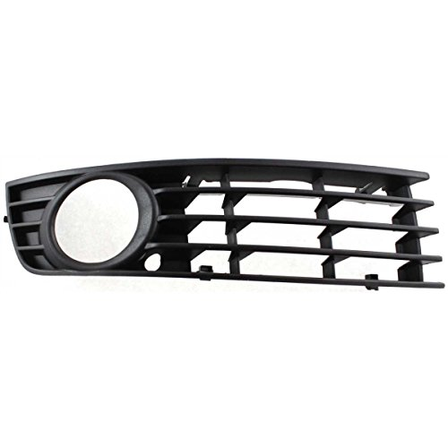DAT 02-05 AUDI A4 TYPE 1 BLACK FRONT BUMPER COVER OUTER GRILLE RIGHT PASSENGER SIDE AU1039102