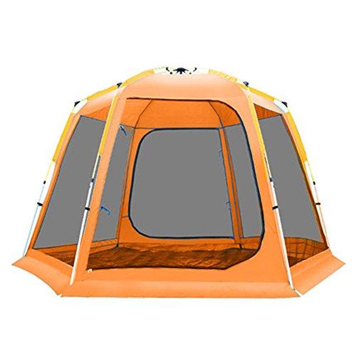 おじいちゃんハウジング構造マ?チョン テント 自動ビッグテントアウトドアマルチプレイヤーキャンプ (色 : Orange)