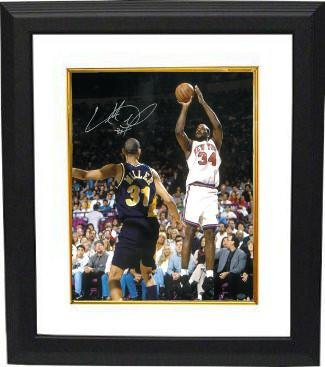 Autographed Oakley Photo - 16X20 Custom Framed - Autographed NBA - Oakley Coin