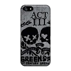 Shockproof Hard Phone Cover For Iphone 5/5s With Support Your Personal Customized Beautiful Green Day Series TimeaJoyce