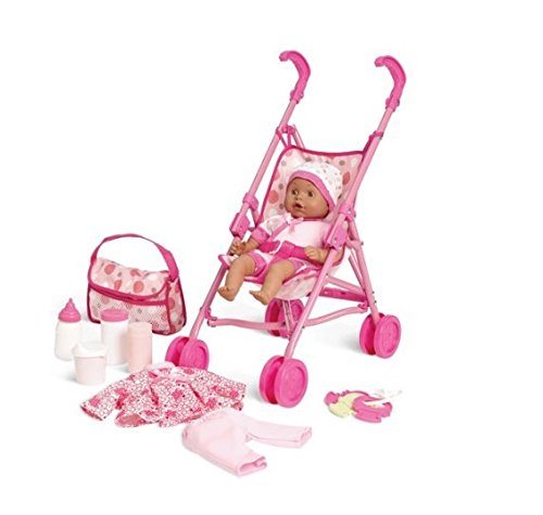 Kid Connection Baby Doll Stroller Playset - 1