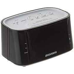 Sylvania Large Digit Clock Radio with Bluetooth, Dual Alarm and Digital Tuning, White
