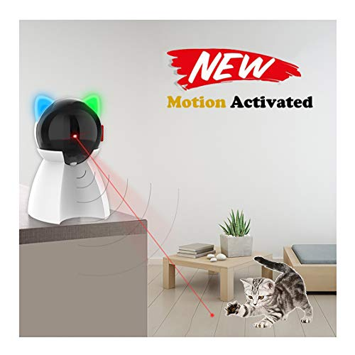 PetDroid Boltz Motion Activated Cat Laser Toy Automatic,USB Rechargeable Battery/Fast and Slow Random Pattern